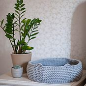 Зоотовары handmade. Livemaster - original item Bed for a cat, Knitted bed for a cat. Handmade.