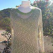 Одежда ручной работы. Ярмарка Мастеров - ручная работа Весенняя листва - туника и топ для шикарной дамы. Handmade.