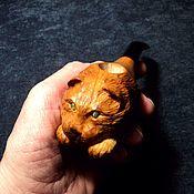 Сувениры и подарки handmade. Livemaster - original item Smoking pipe cat Wise cherry Plum. Handmade.