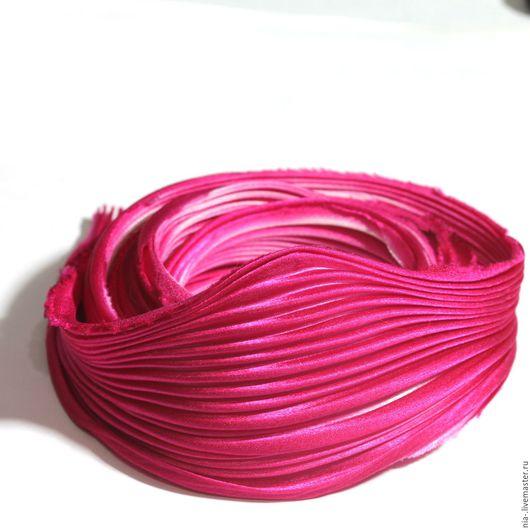 Для украшений ручной работы. Ярмарка Мастеров - ручная работа. Купить Шелковая лента Шибори ярко-розовая SH6 Shibori 10 см. Handmade.