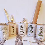 Банки ручной работы. Ярмарка Мастеров - ручная работа Банки для хранения с травами. Handmade.