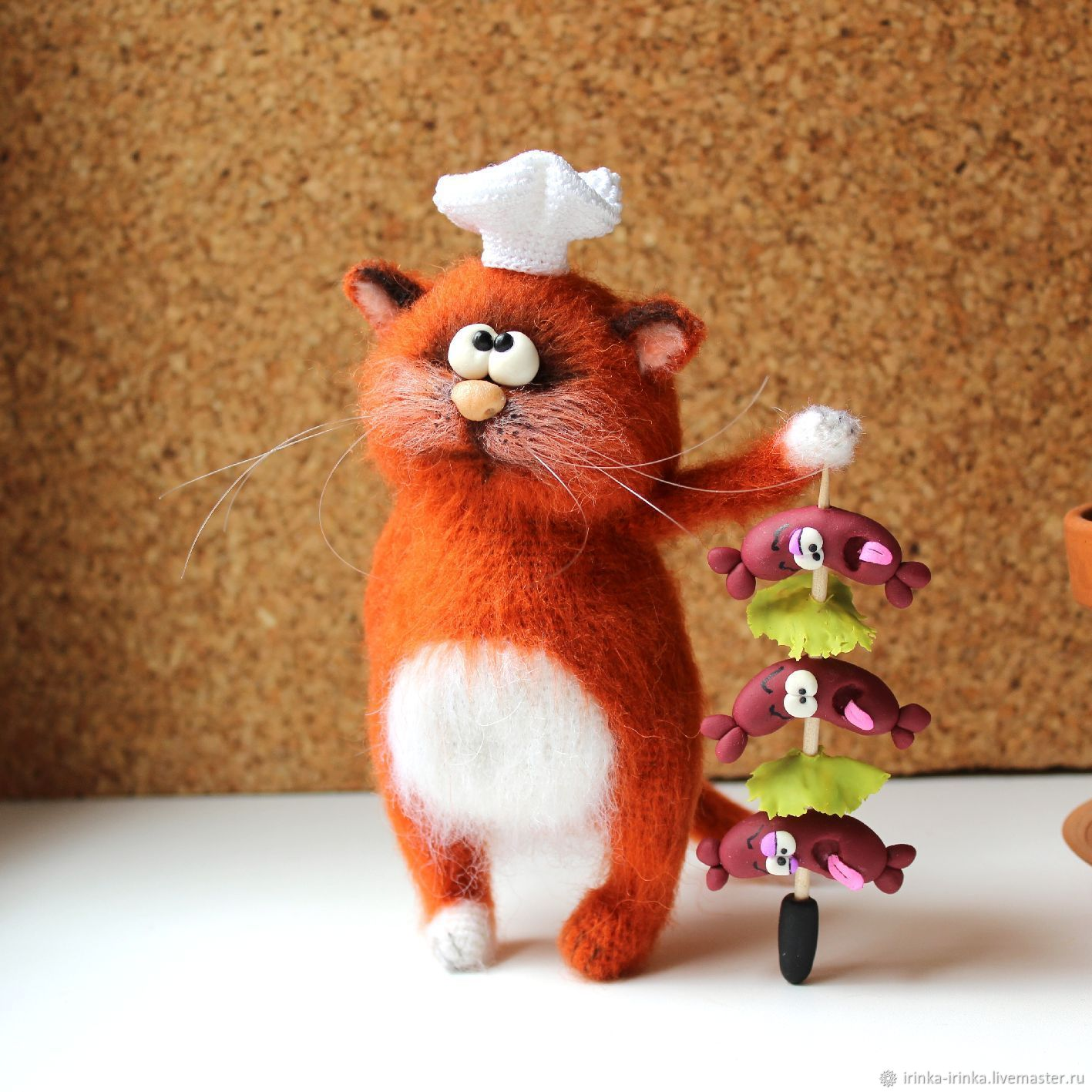 Рыжий кот, Мягкие игрушки, Одинцово,  Фото №1
