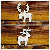 Материалы для творчества handmade. Livemaster - original item Deer, elk-set of 10 pieces, blank for brooch, badge, toys. Handmade.