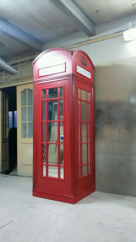 Английская телефонная будка. ШКАФ для верхней одежды , Шкафы, Москва,  Фото №1