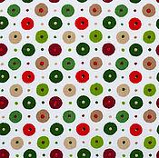 Материалы для творчества ручной работы. Ярмарка Мастеров - ручная работа Ткань Хлопок Пончики красно-зеленые. Handmade.