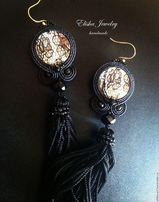 Серьги-кисти `Кружева` Ручная работа Elisha Jewelry
