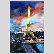 Картины и панно handmade. Livemaster - original item Oil painting on canvas cityscape. Handmade.