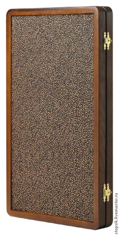 Музыкальные шарики ручной работы. Ярмарка Мастеров - ручная работа. Купить Нарды Династия (чёрный коралл, морёный дуб, кожа 31933. Handmade.