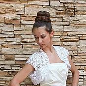 Свадебный салон handmade. Livemaster - original item Bolero jacket for wedding.. Handmade.