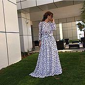 Одежда ручной работы. Ярмарка Мастеров - ручная работа Платье длинное в пол на подкладе. Handmade.