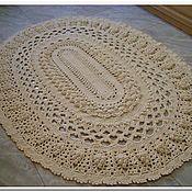 Для дома и интерьера handmade. Livemaster - original item Oval handmade carpet knotted cord Spring. Handmade.