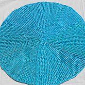 """Для дома и интерьера ручной работы. Ярмарка Мастеров - ручная работа вязаный коврик """"Лазурь"""" круглый. Handmade."""