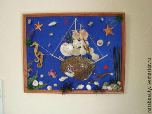 Элементы интерьера ручной работы. Ярмарка Мастеров - ручная работа. Купить Картина из ракушек Морское царство. Handmade. Морские ракушки