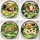 Painted porcelain Plate porcelain Farm country, Plates, Kazan,  Фото №1