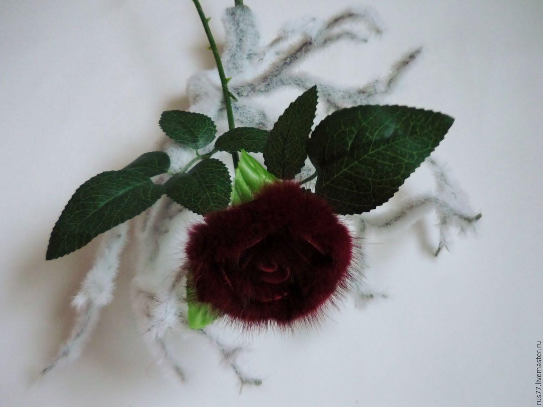Розы из меха норки