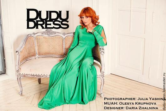Платья ручной работы. Ярмарка Мастеров - ручная работа. Купить Платье в пол зелёная трава. Handmade. Ярко-зелёный