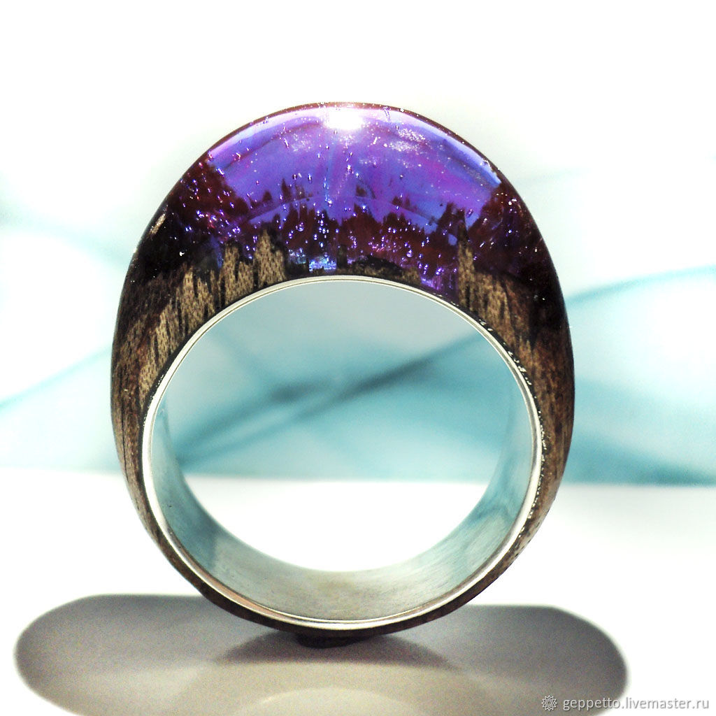 Wooden ring 'Heavenly sweetness', Rings, Kostroma,  Фото №1