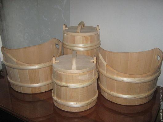 Кухня ручной работы. Ярмарка Мастеров - ручная работа. Купить Кадка 10 литров. Handmade. Бежевый, Соленья, ковш, кедр