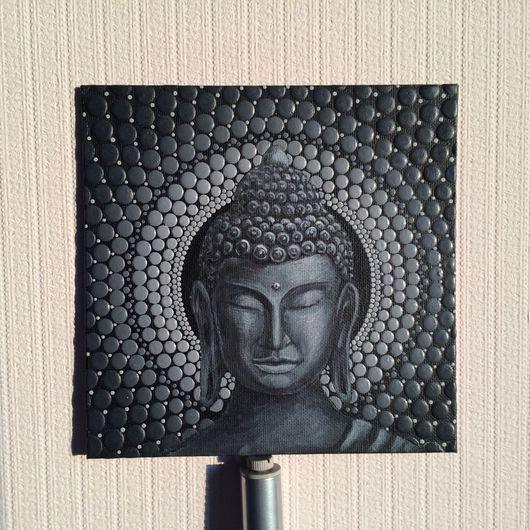 Этно ручной работы. Ярмарка Мастеров - ручная работа. Купить Портрет Будды с объемным орнаментом. Handmade. Будда, стиль, картина