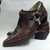 """Обувь ручной работы. Ярмарка Мастеров - ручная работа Мужские туфли """"казаки!. Handmade."""