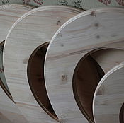 Материалы для творчества ручной работы. Ярмарка Мастеров - ручная работа Круглая рама из массива сосны. Handmade.