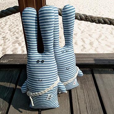 Куклы и игрушки ручной работы. Ярмарка Мастеров - ручная работа Заяц яхтсмен 45см высота. Handmade.