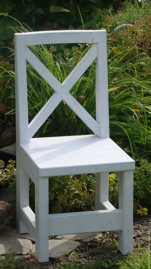 Мебель ручной работы. Ярмарка Мастеров - ручная работа. Купить Стул из массива кедра Утренний прованс. Handmade. Белый