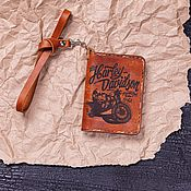 Канцелярские товары handmade. Livemaster - original item Cover for bobber documents. Handmade.
