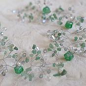 Украшения handmade. Livemaster - original item Wedding band, a sprig of jade quartz