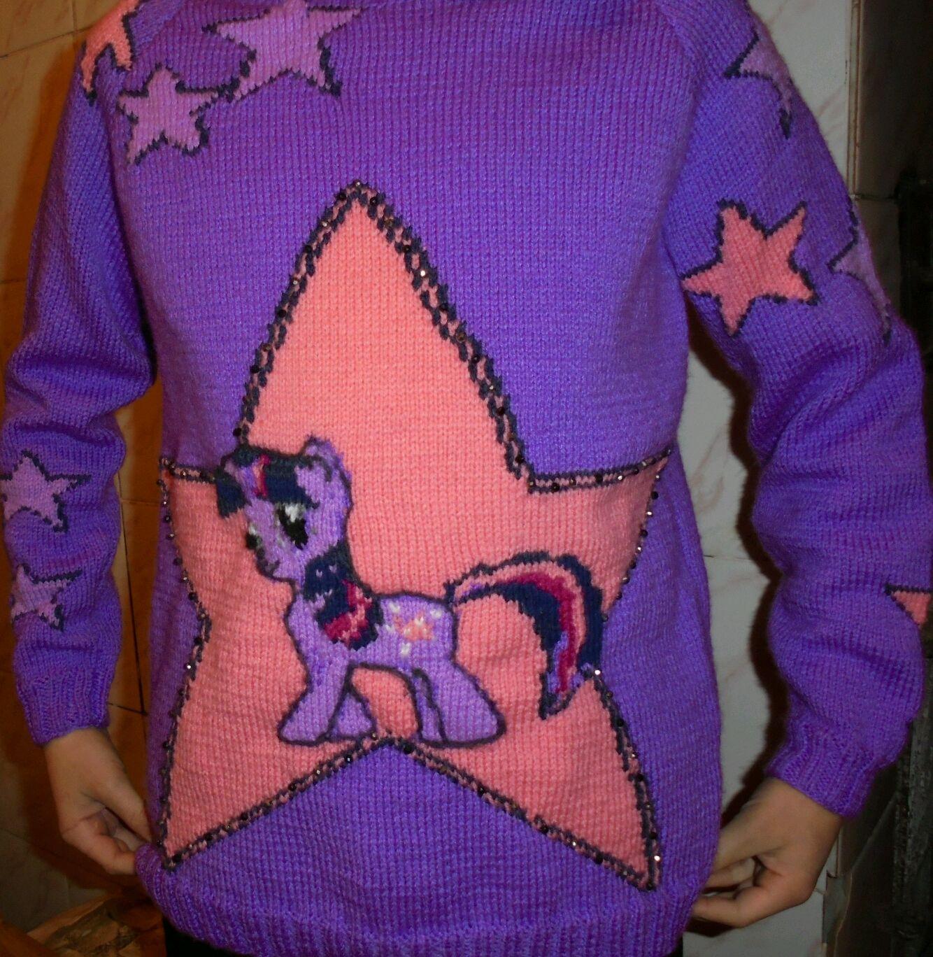 """Вязаный пуловер """" Пони Искорка"""""""