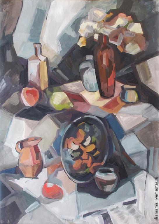 Still life in gray the artwork by Tatyana Petrovskaya
