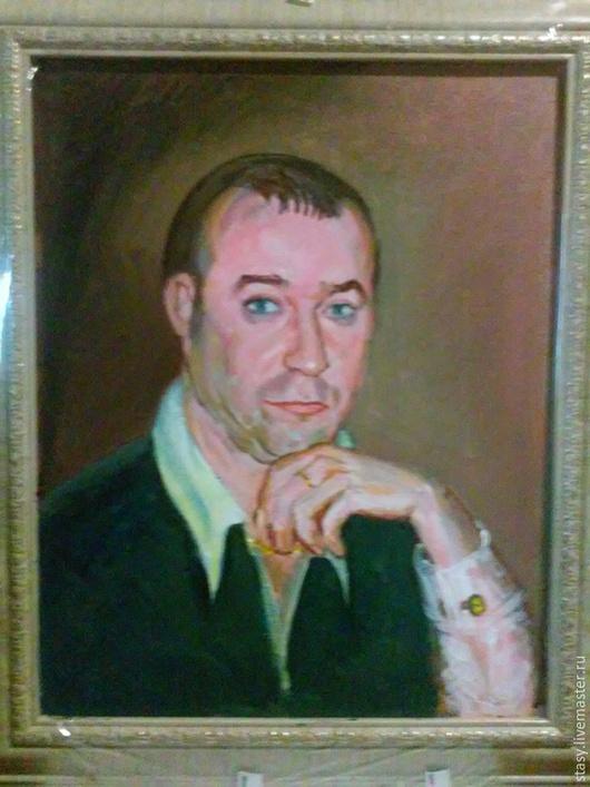 Люди, ручной работы. Ярмарка Мастеров - ручная работа. Купить Мужской портрет. Живопись. Ручная работа.. Handmade. Болотный