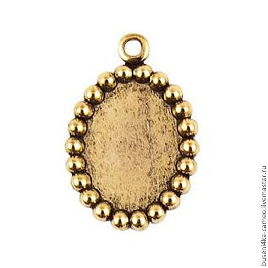 Для украшений ручной работы. Ярмарка Мастеров - ручная работа. Купить Оправа Шарики ND 10х14мм, античное золото (1шт). Handmade.