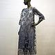 Платья ручной работы. Ярмарка Мастеров - ручная работа. Купить Нарядное платье из кружева. Handmade. Серый, кружевное платье