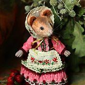 Тедди Зверята ручной работы. Ярмарка Мастеров - ручная работа Мышка. Handmade.