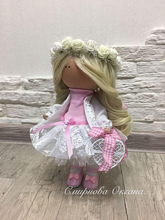 Коллекционные куклы ручной работы. Ярмарка Мастеров - ручная работа. Купить Текстильная интерьерная кукла. Handmade. Голубой, ручная работа
