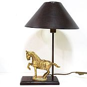 Винтаж handmade. Livemaster - original item The author`s work lamp, bronze. Handmade.