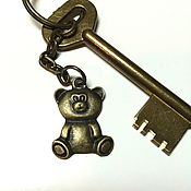 Аксессуары handmade. Livemaster - original item Keychain with ribbon, keyring for bag. Handmade.