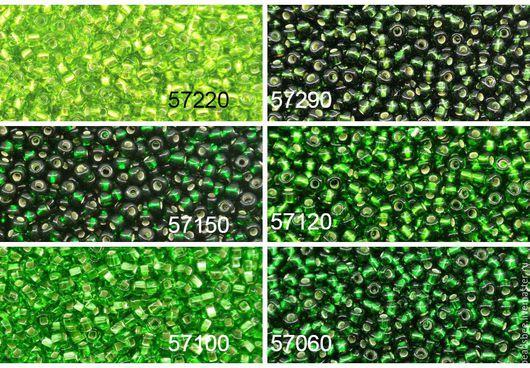Для украшений ручной работы. Ярмарка Мастеров - ручная работа. Купить Чешский бисер 10/0 Зеленые цвета6. Handmade. Бисер