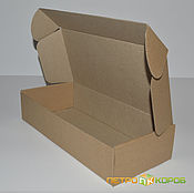 Коробки ручной работы. Ярмарка Мастеров - ручная работа Коробки: Самосборная коробка 37,5х15х5,5см бурый. Handmade.