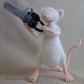"""Куклы и игрушки ручной работы. Ярмарка Мастеров - ручная работа Игрушка крыса с бензопилой """"Играй гормон"""". Handmade."""