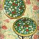 """Мебель ручной работы. Ярмарка Мастеров - ручная работа. Купить Столик журнальный """"Полевые цветы"""". Handmade. Цветы, зеленый, мозаика"""