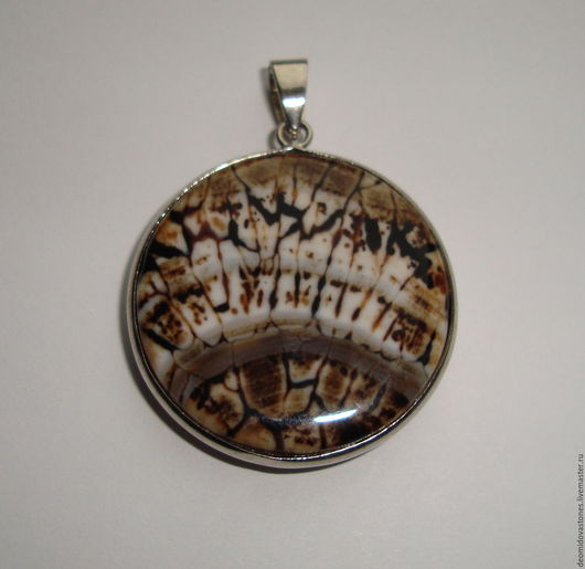 Для украшений ручной работы. Ярмарка Мастеров - ручная работа. Купить Агат Вены дракона, подвеска-кабошон, круглая 03, 32х 7 мм. Handmade.