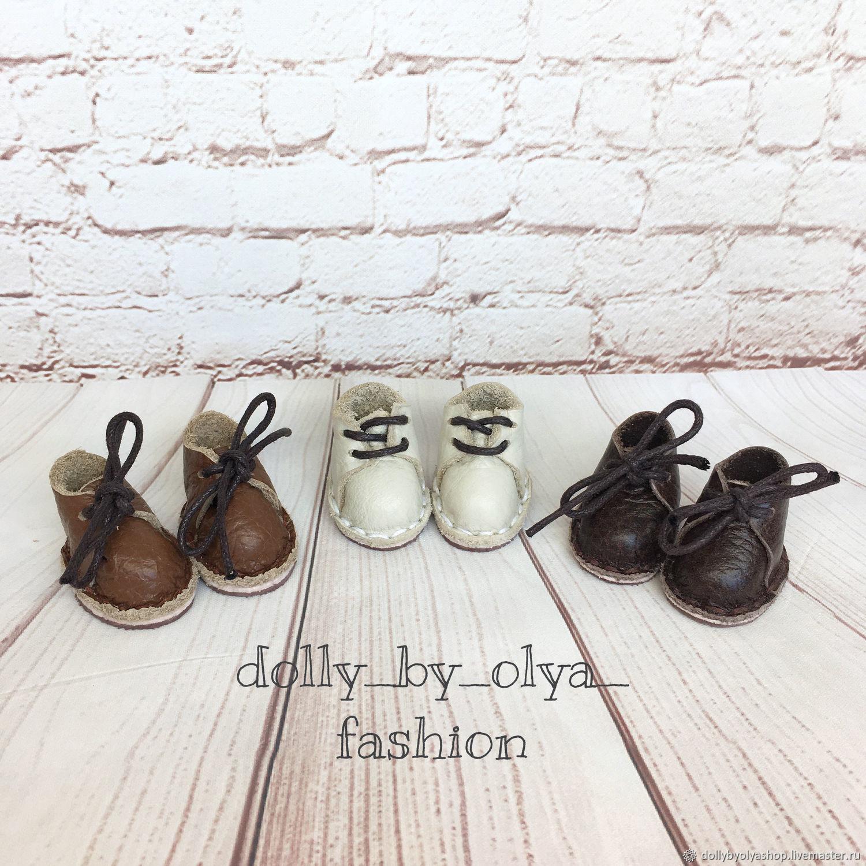 (На ножку 3,2 см) Ботинки кожаные на колодке, Одежда для кукол, Нижний Новгород,  Фото №1