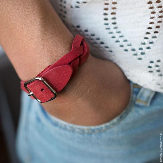 """Браслеты ручной работы. Ярмарка Мастеров - ручная работа. Купить Кожаный браслет """"Bin Bracelet"""". Handmade. Кожаный браслет"""