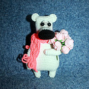 Куклы и игрушки ручной работы. Ярмарка Мастеров - ручная работа Мишка поздравишка. Handmade.