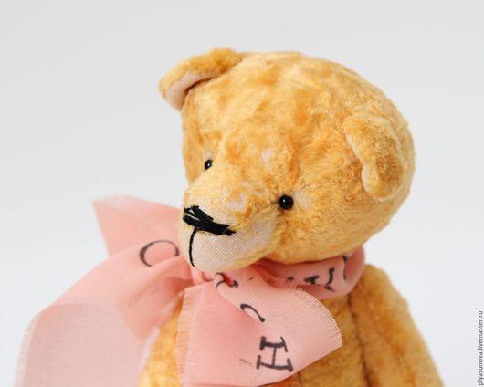 Мишки Тедди ручной работы. Ярмарка Мастеров - ручная работа. Купить Мишка тедди Абрикос- мягкая игрушка. Handmade. Желтый