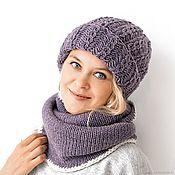 Аксессуары handmade. Livemaster - original item Knitted hat with lapel