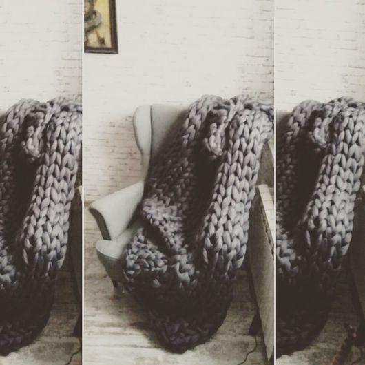 Текстиль, ковры ручной работы. Ярмарка Мастеров - ручная работа. Купить Супертолстый вязаный плед Kozaa's Bags. Handmade. Плед