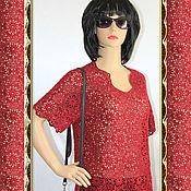 Одежда handmade. Livemaster - original item Crocheted cherry tunic.. Handmade.